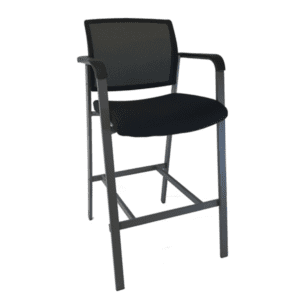 Mesh Back 4 Leg Stool with Fabric Seat