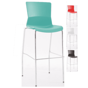Raise Metal Chrome Base Cafe Stool