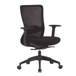 Black Task Chair with Mesh Back & Fabric Seat