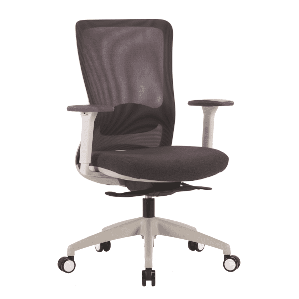 Charcoal Mesh Back Task Chair with Charcoal Fabric Seat