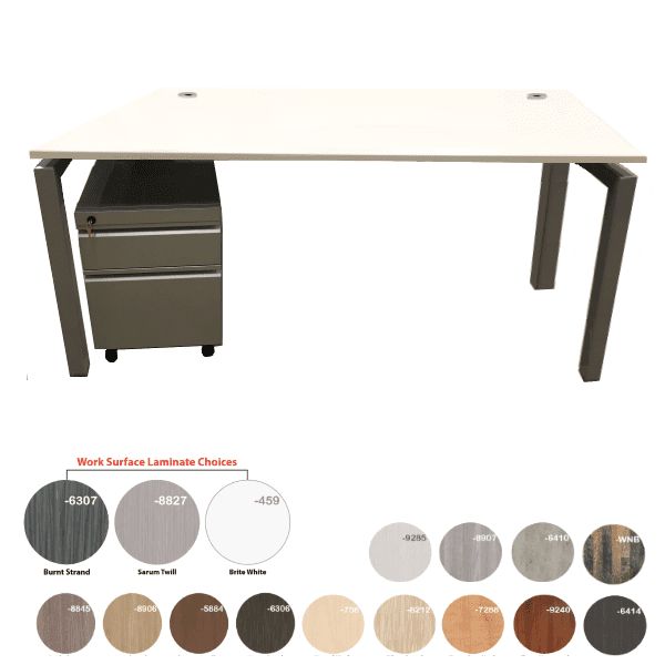 Bench iT 30D x 66 or 72 Inches Wide Desk Brushed Silver Base