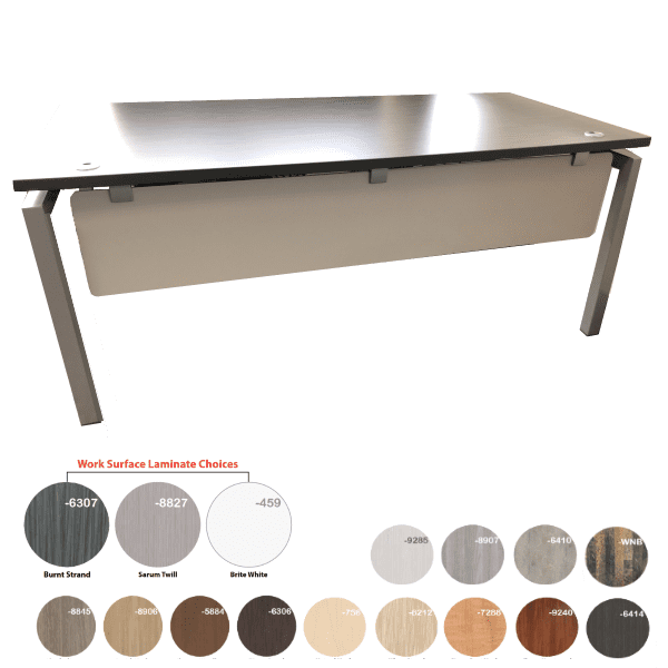 Bench iT 36D Inches x 72 Inches Wide Desk Brushed Silver Base