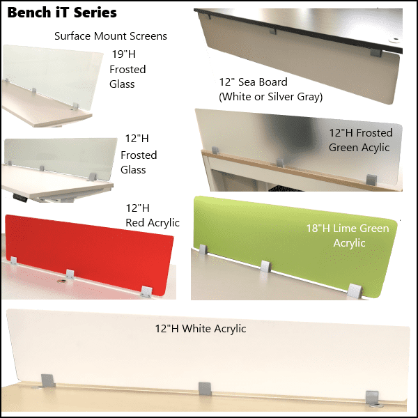 Bench iT Series Privacy Divider Screens
