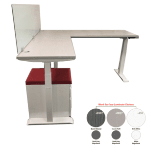 Electric L-Shaped Height Adjustable Workstation - Right Handed Return