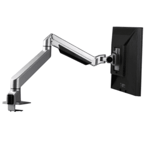 Single Silver Reach Monitor Arm