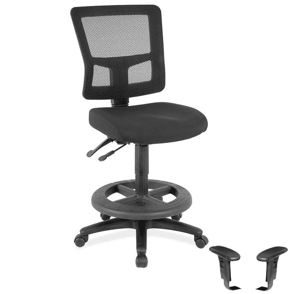 Mesh Drafting Task Stool with Full Controls
