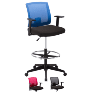 Baker Series Mesh Back Office Arm Stool