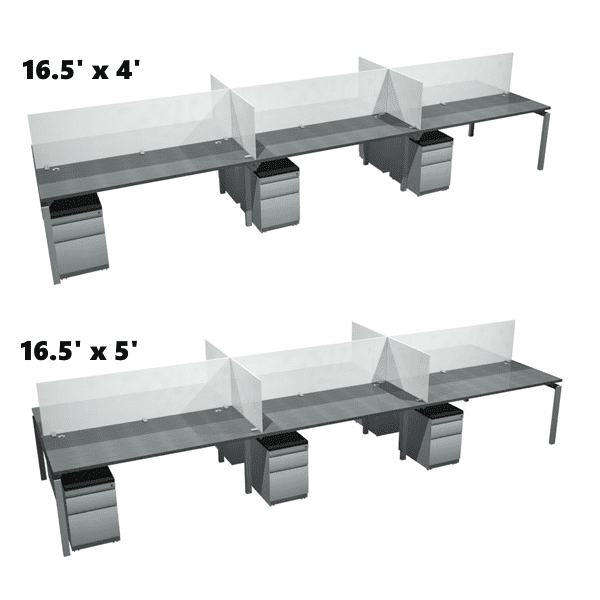 Bench iT 16.5' x 4' & 5' 6 Person Benching