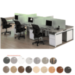 6-Person Set of Benching Workstations