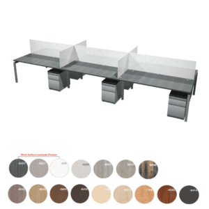Bench it 16.5 Feet 4 Person Benching Workstations