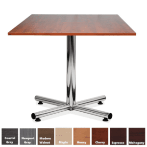PL Chrome X-Base Square Table