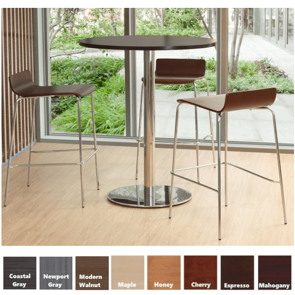 round cafe height table