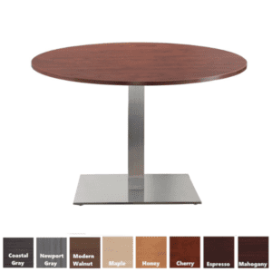 PL Round Conference Table with Square Platform Base