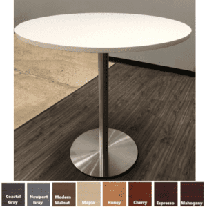 "36"" cafe height round table"