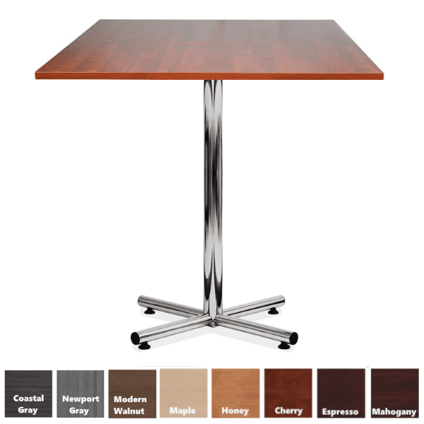 PL Square Cafe Height Table in Cherry