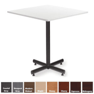 PL Square Cafe Height Table in White Finish