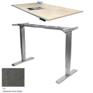 Height Adjustable Desk in Industrial Steel Matte
