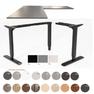 Hi-Hat L-Shape 90° Height Adjustable Desk