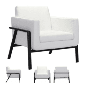 White Lounge Reception Chair