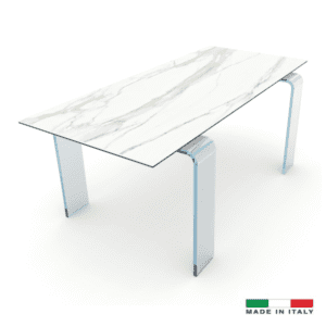 Light Conference Table - White calcatta