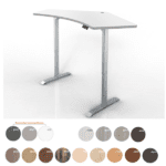 120 degree Height Adjustable Table - White