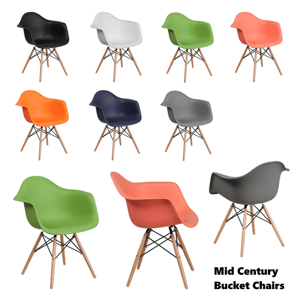Mid Century Bucket Chair