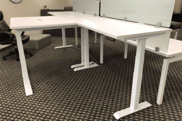Sit to Stand L-Shape Workstation I – 9 Sizes