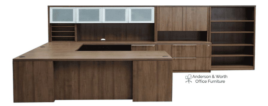 Status 90° Recessed Front U-Shape Desk