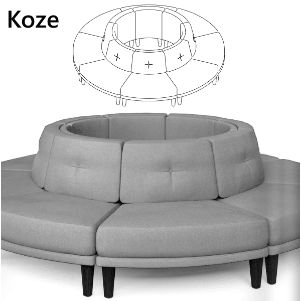 6 Piece Modular Seating