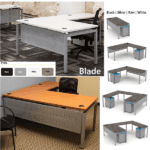 Blade Desk with Steel Modesty Panel