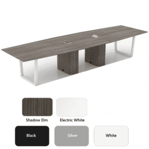 Clear Design 360 Trapezoid Conference Table - Shadow Elm