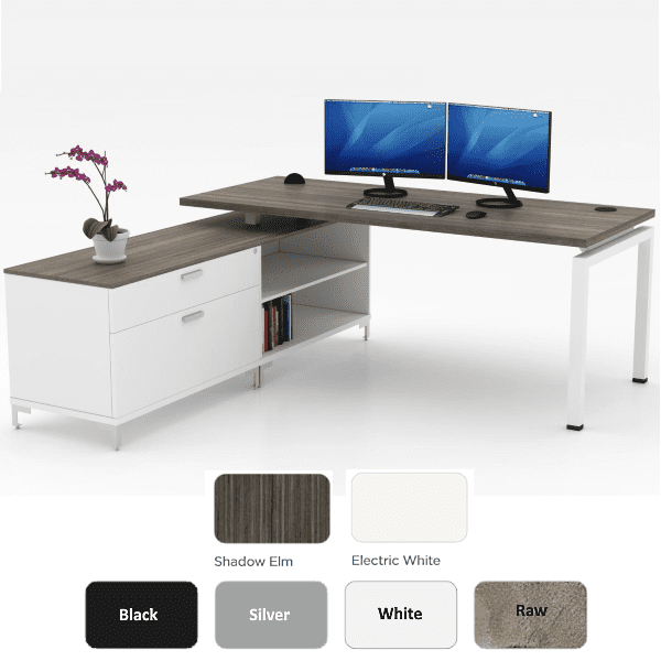 L Shaped Benching Desk