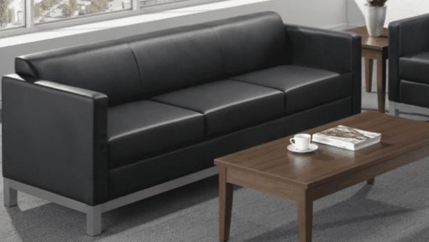 Compose Black Reception Sofa