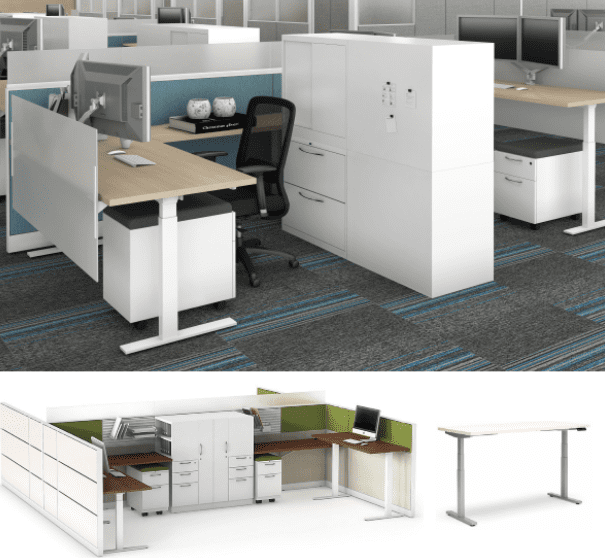 Maxon Emerge Electric Standing Workstations