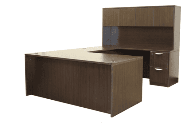 Ultra 6′ Double Pedestal U-Shape Desk
