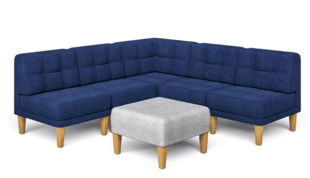 KOZE 5-Piece Modular L-Shaped Sofa