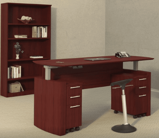 63″ Medina™ Height Adjustable Curved Desk
