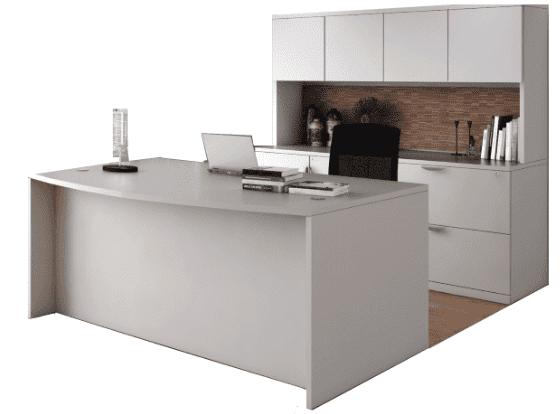 PL Bow Desk | Storage Credenza | Hutch