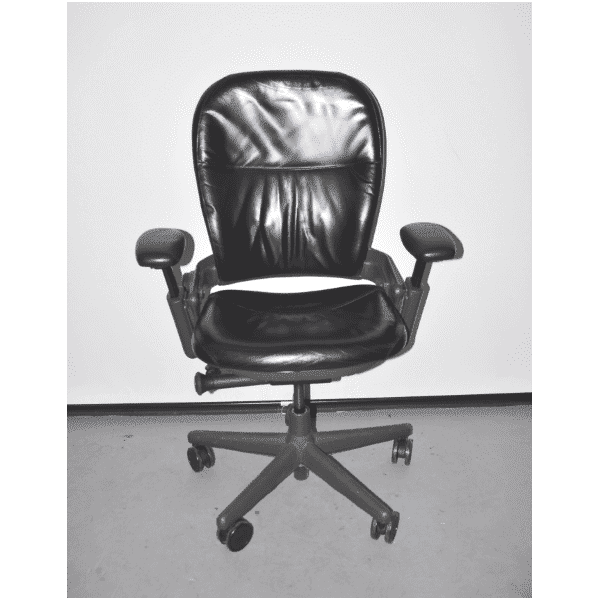 Used Steelcase V1 Leap Chair – Black Leather