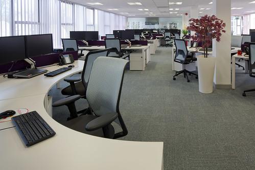 Office workplace setup