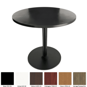 Black Formica Round Table