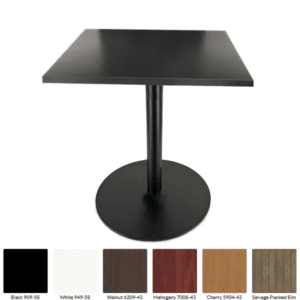 Quickship Modern Black Square Cafe Table