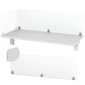 Clear or Frosted Acrylic Panels for Desk