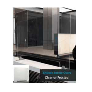 Clear or Frosted Acrylic Partition