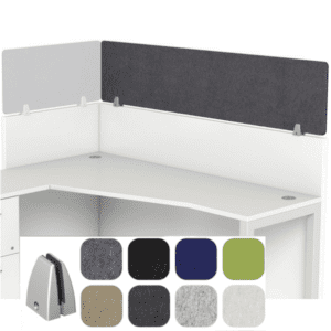 Acoustical Cubicle Height Extender Screens