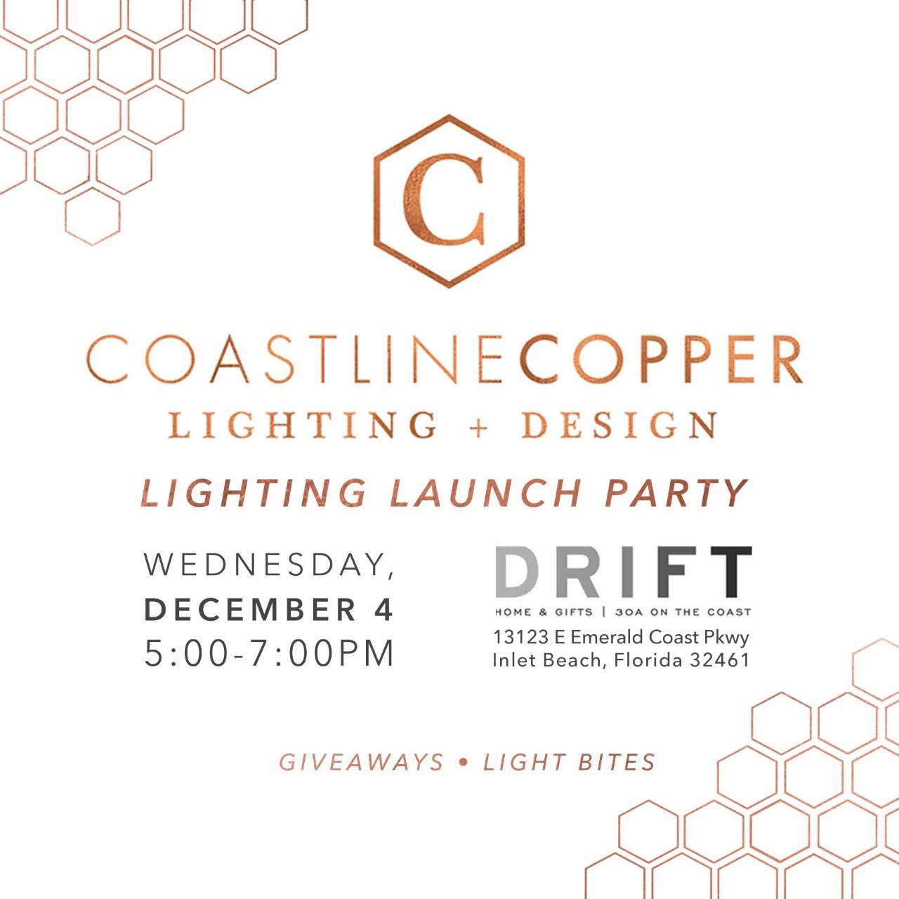 Coastline Copper Lighting & Design Launch Party