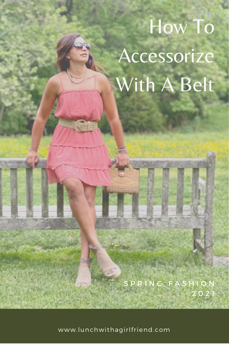 How To Accessorize With A Wide Belt