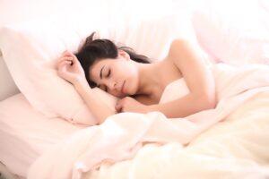 Image of a person sleeping comfortably.