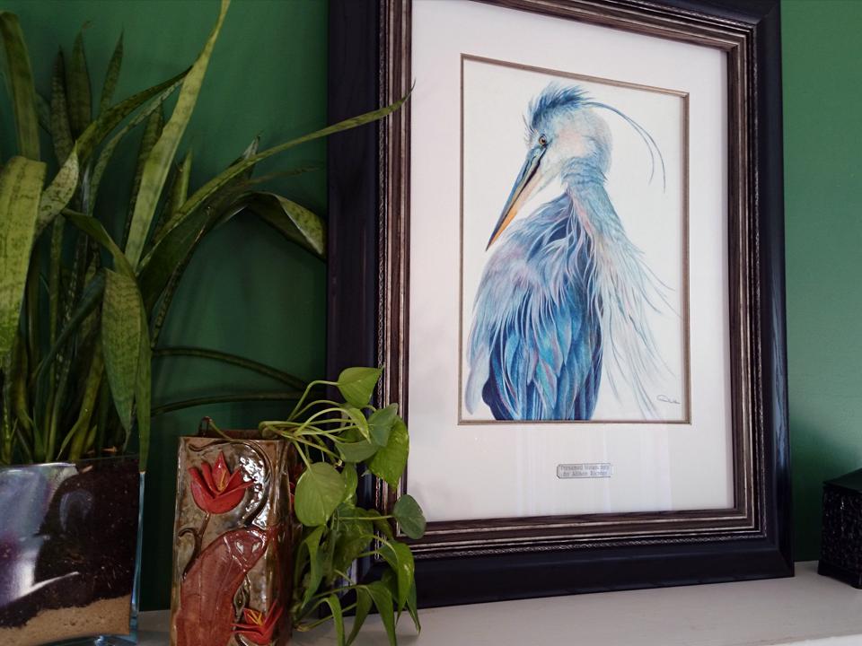 Blue Heron Wildlife Artwork