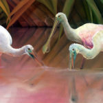 "Spoonbill Original Artwork ""Slanted Sun's Last Call"""